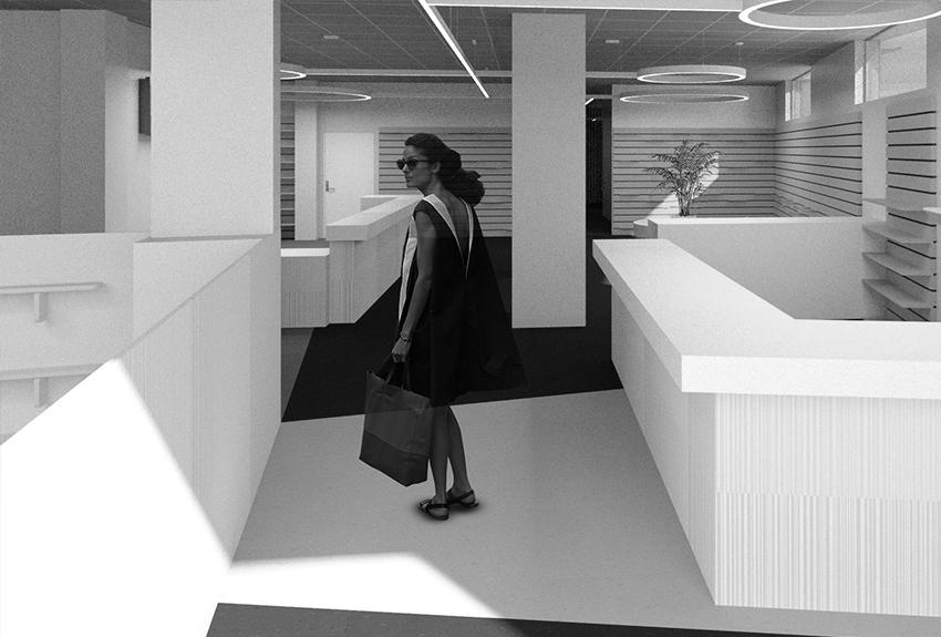 Progettazione e rifunzionalizzazione negozio COSB